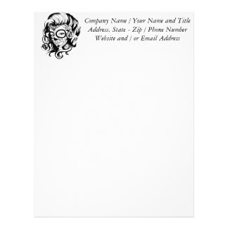 Day of the Dead Beauty Letterhead Template