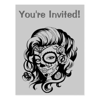 Day of the Dead Beauty Postcard