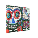 Day Of The Dead & Black Cat Canvas Prints
