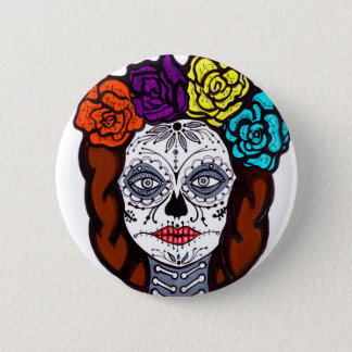 Day of the Dead Bride 2 Inch Round Button