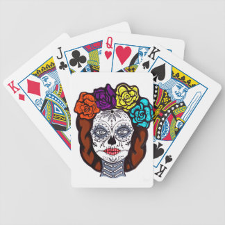 Day of the Dead Bride Bicycle Playing Cards