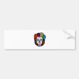 Day of the Dead Bride Bumper Sticker