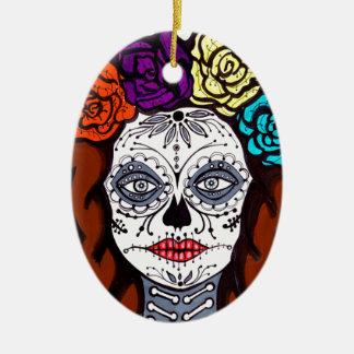 Day of the Dead Bride Ceramic Ornament