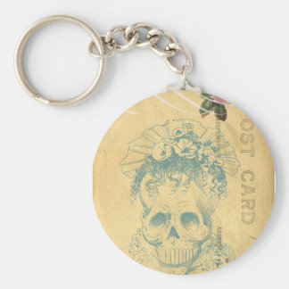 Day Of The Dead Bride Cinco De Mayo Skeleton Basic Round Button Keychain
