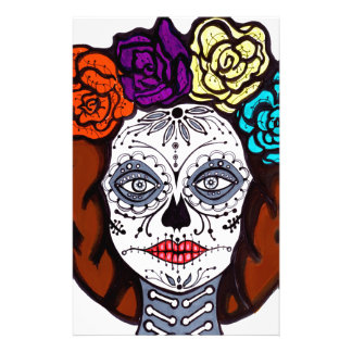 Day of the Dead Bride Custom Stationery