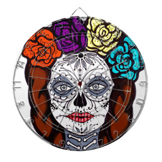 Day of the Dead Bride Dartboard With Darts