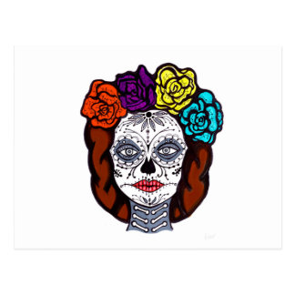 Day of the Dead Bride Postcard