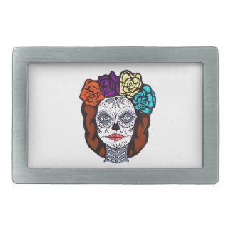 Day of the Dead Bride Rectangular Belt Buckle