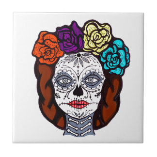 Day of the Dead Bride Tile