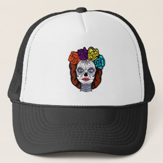 Day of the Dead Bride Trucker Hat