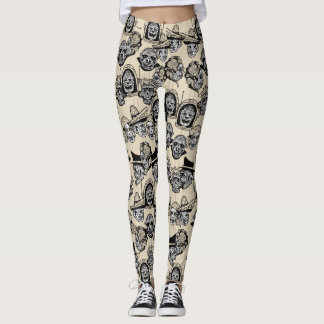 DAY OF THE DEAD by Slipperywindow Leggings