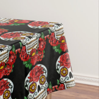 Day of the dead candy skull tablecloth