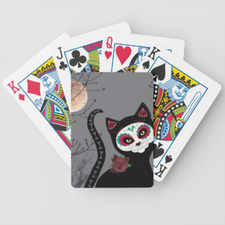 Day of the Dead Cat Bicycle Playing Cards