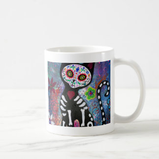 Day of the Dead Cat by Prisarts Coffee Mug