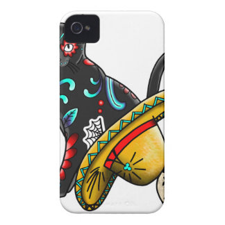 Day of the dead cat Case-Mate iPhone 4 case