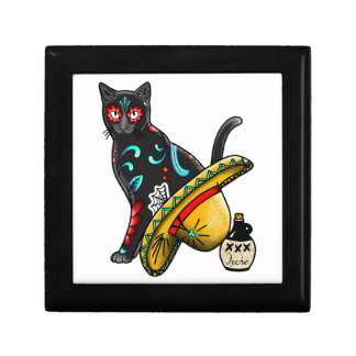 Day of the dead cat gift box