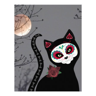 Day of the Dead Cat Letterhead