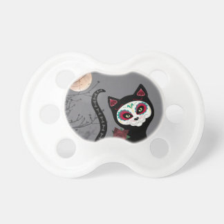 Day of the Dead Cat Pacifier