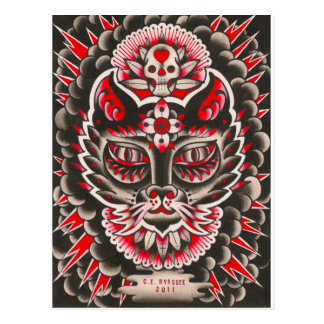 Day of the Dead Cat Postcard