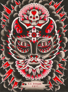 Day Of The Dead Cat Art Wall Décor Zazzleca