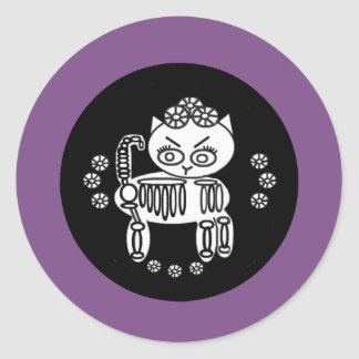 Day of the Dead-  Cat Skelly Sticker