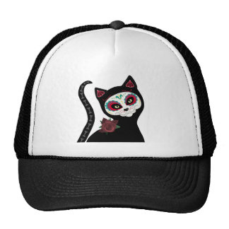 Day of the Dead Cat Trucker Hat