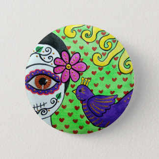 "Day of the dead ""Catrina"" Button"
