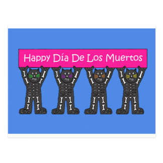 Day of the Dead Cats Postcard