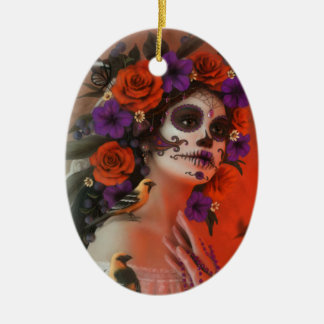 Day of the Dead Ceramic Ornament