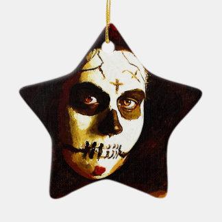 Day of the Dead Ceramic Star Ornament