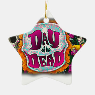 Day of the Dead Ceramic Star Ornament