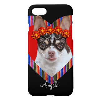 Day of the Dead Chihuahua dog iphone 7 case