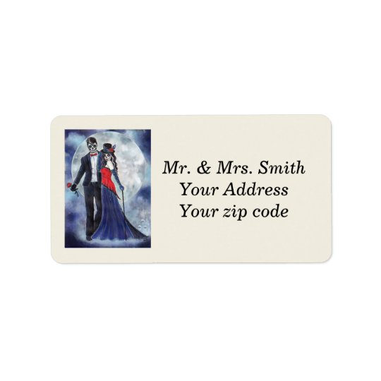 Day of the dead couple address labels by Renee