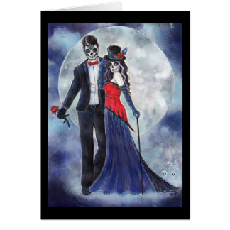 Day of the dead couple card By Renee Lavoie