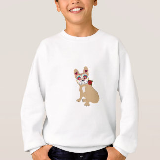 Day of the Dead Cream  Frenchie Sweatshirt