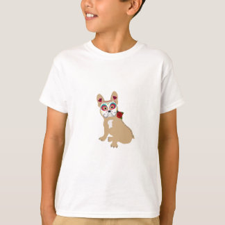 Day of the Dead Cream  Frenchie T-Shirt