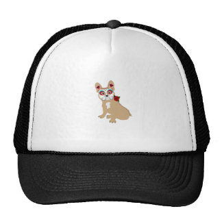 Day of the Dead Cream  Frenchie Trucker Hat