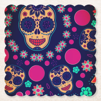 day of the dead custom table coaster