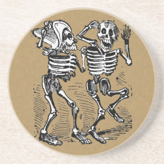 Day of the Dead Dance Beverage Coaster