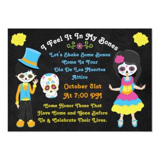 Day of the Dead Dia De Los Muertos Calacas Invite