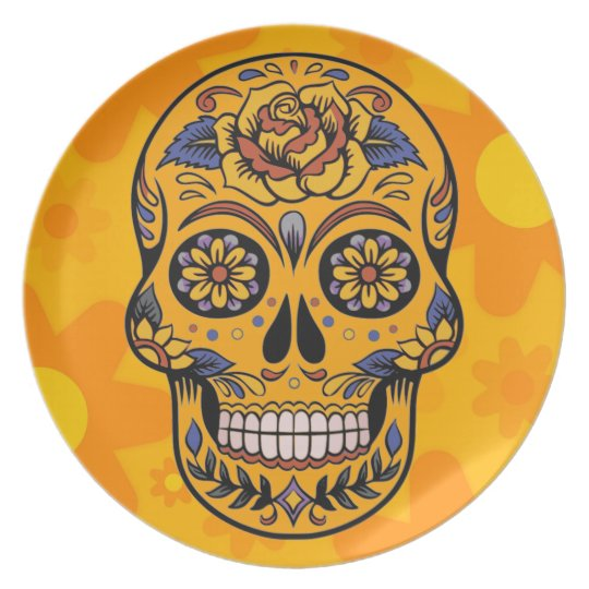 DAY OF THE DEAD DIA DE LOS MUERTOS HOME GIFT PLATE