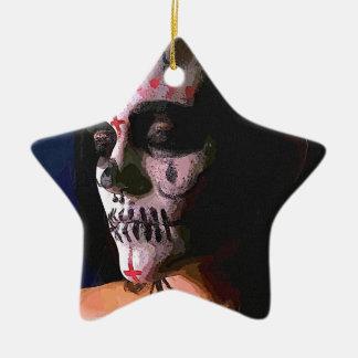 Day of the Dead, Día de Muertos Ceramic Star Ornament