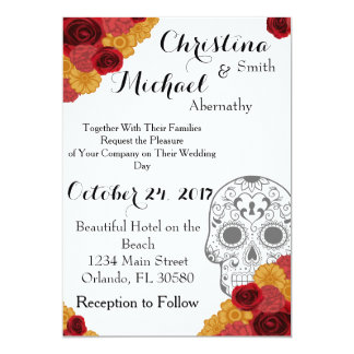 Day of the Dead Dia Los Muertos Wedding Invitation