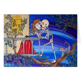 Day of the Dead Famous Lovers Romeo and Juliet Card