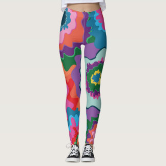 Day of the Dead Floral Leggings