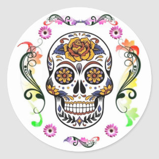 Day of the Dead - Floral Skull Sticker