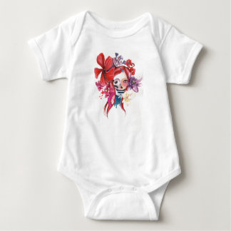 Day of the dead for Bebe Baby Bodysuit