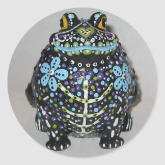 Day Of The Dead Frog Sticker
