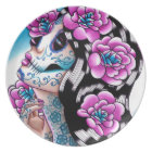 Day of the Dead Girl: A Moment of Silence Plate