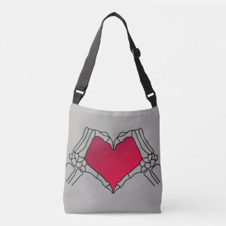 """Day of the Dead"""" Grey canvas tote bag."""